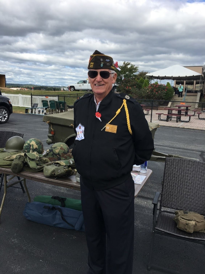 Bob Cranson at the Post Display at the airshow.